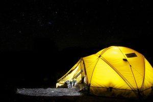 Wakacje pod namiotem z dzieckiem